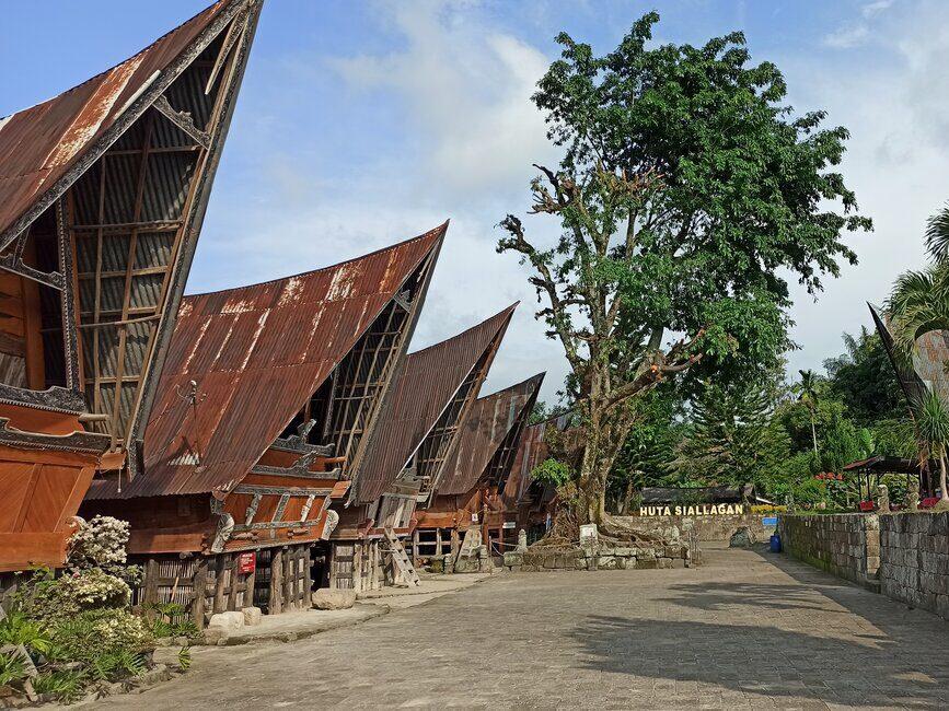 Kompleks Rumah Adat Batak di Huta Siallagan