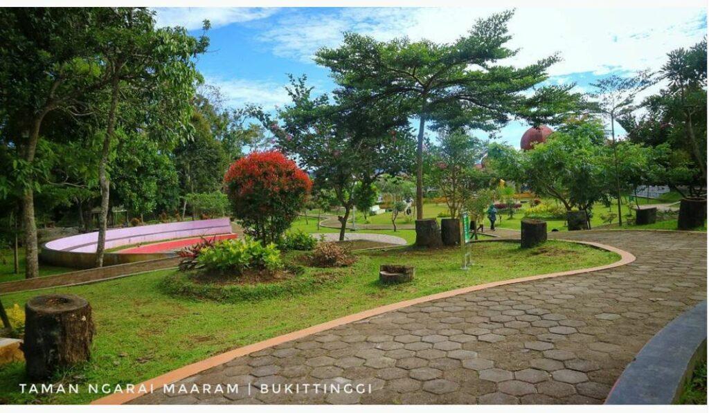 Jogging track Taman ngarai Maaram Bukittinggi
