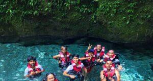 Persiapan body rafting di aliran sungai Kolam Abadi Langkat Sumatera Utara - kolamabadi_terohteroh