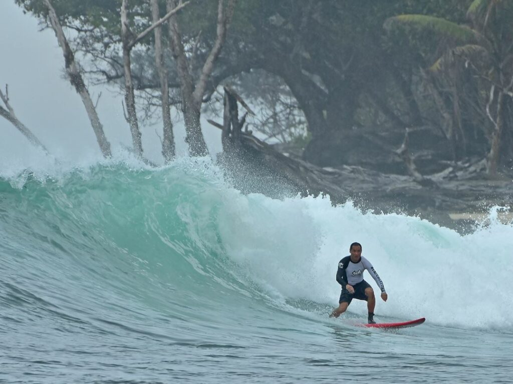 Friendly wave surfer in WavePark Mentawai Resort