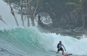 Friendly wave surfer in WavePark Mentawai Resort