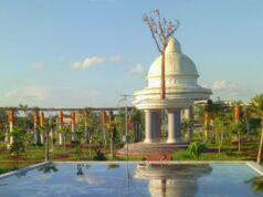 area taman tanjung bersinar park dengan kolam dan kubah