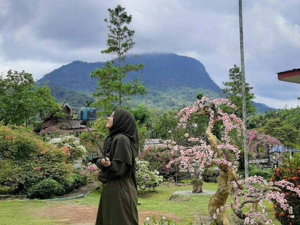 Nuansa asri dengan hawa sejuk khas pegunungan di Taman Bougenville Singkawang Kalimantan Barat - nr_slmh