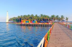 area dermaga pulau beras basah yang penuh warna