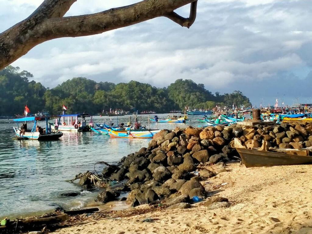 Aktivitas nelayan di Pantai Sendangbiru