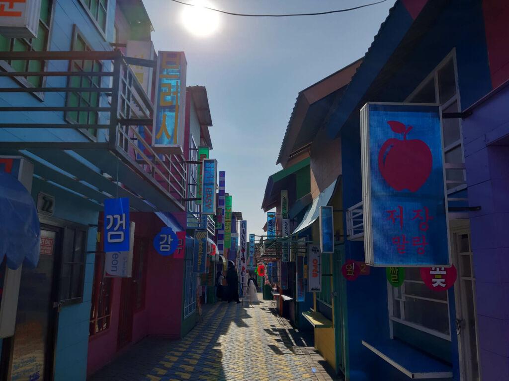 salah satu sudut taman bergaya korea