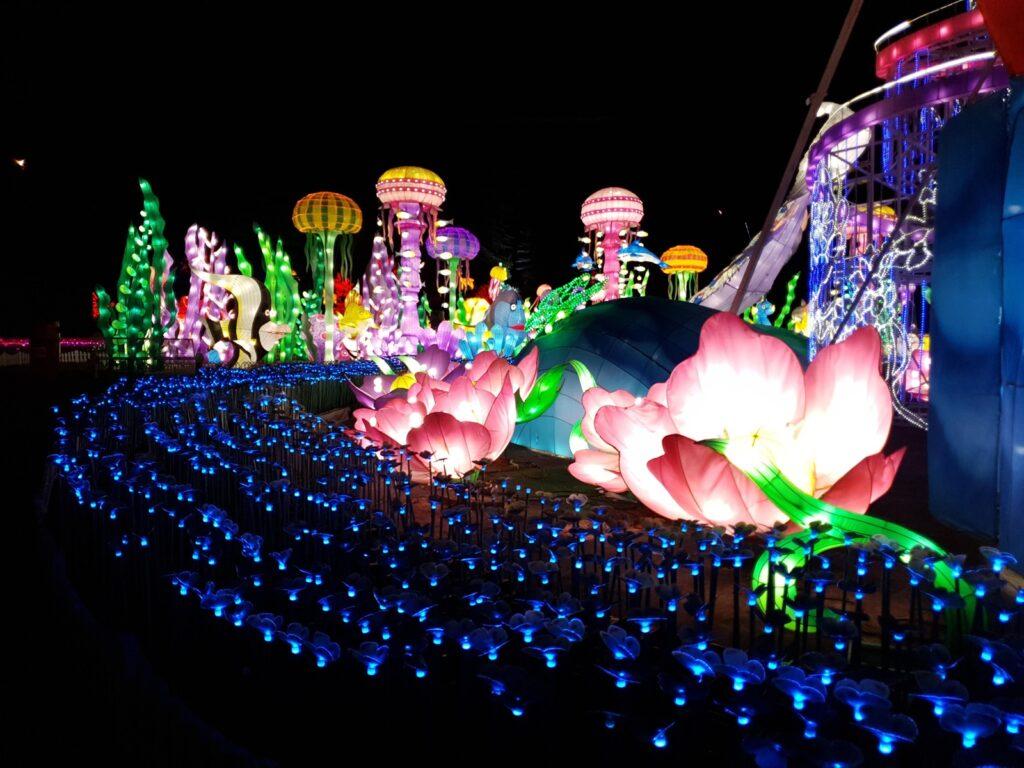 kelap-kelip lampu di Glow Garden
