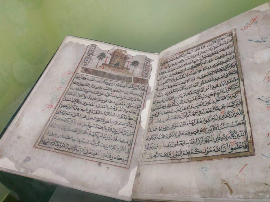 Al-Qur'an tulisan tangan Syekh Muhammad Arsyad Al Banjari di museum lambung mangkurat