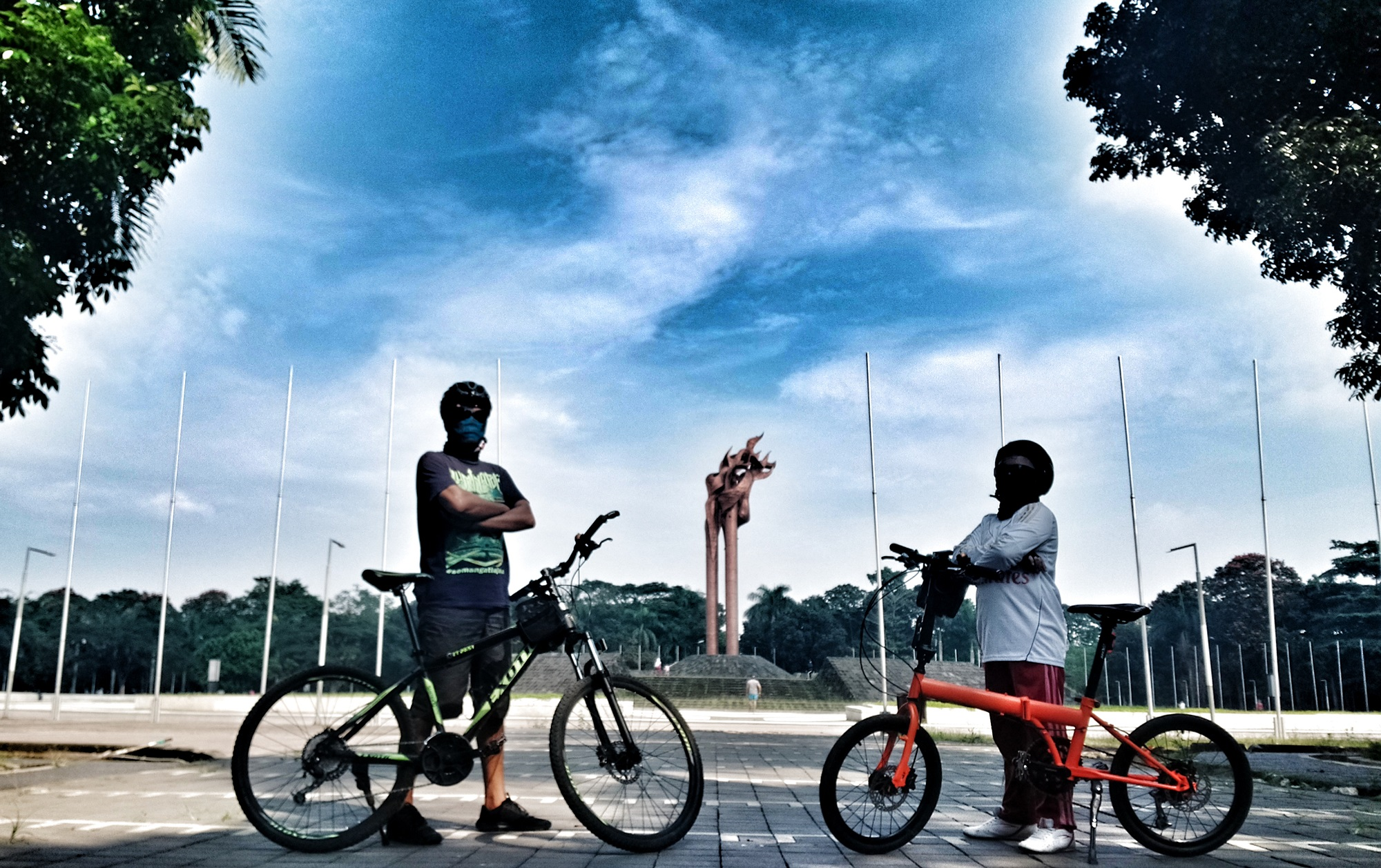aktivitas di Monumen Bandung Lautan Api