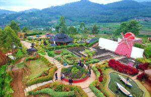 area taman bunga yang ada di bukit nirwana