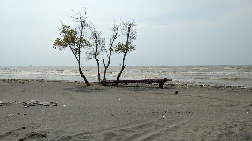 Pemandangan di Pantai Sedari
