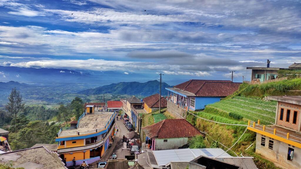 Pemandangan bentang alam Indah Hijaunya Nepal van Java