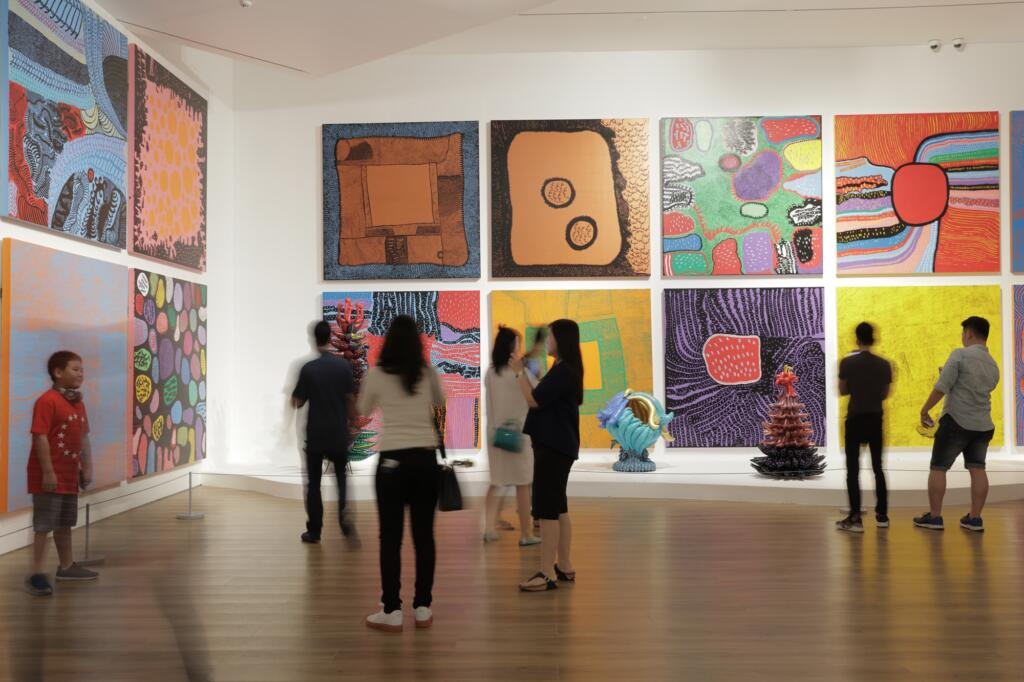 Beragam lukisan bergaya kontemporer dipamerkan di museum macan