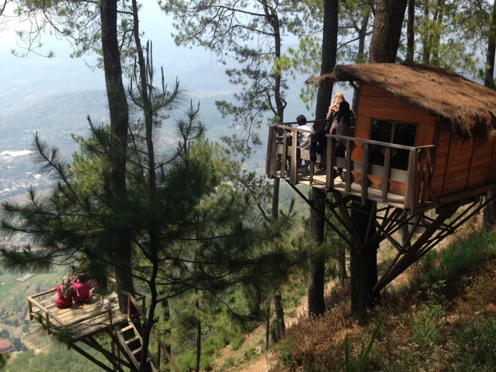 omah kayu tempat wisata di Malang untuk menikmati keindahan kota dari ketinggian