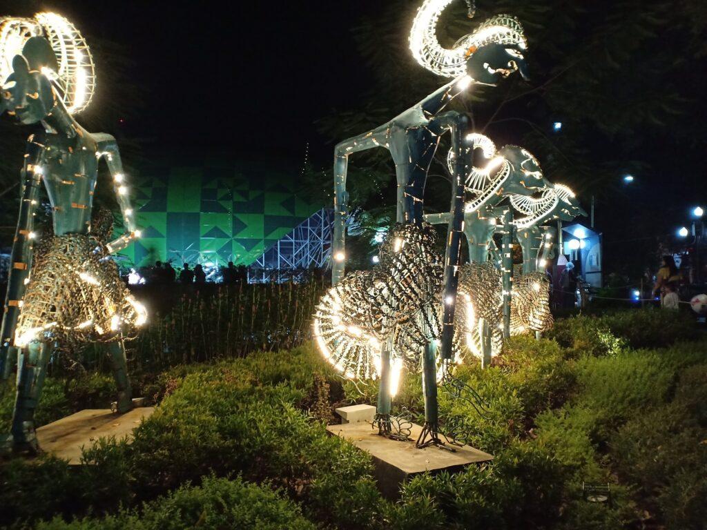 Patung Wayang Pandawa di Taman