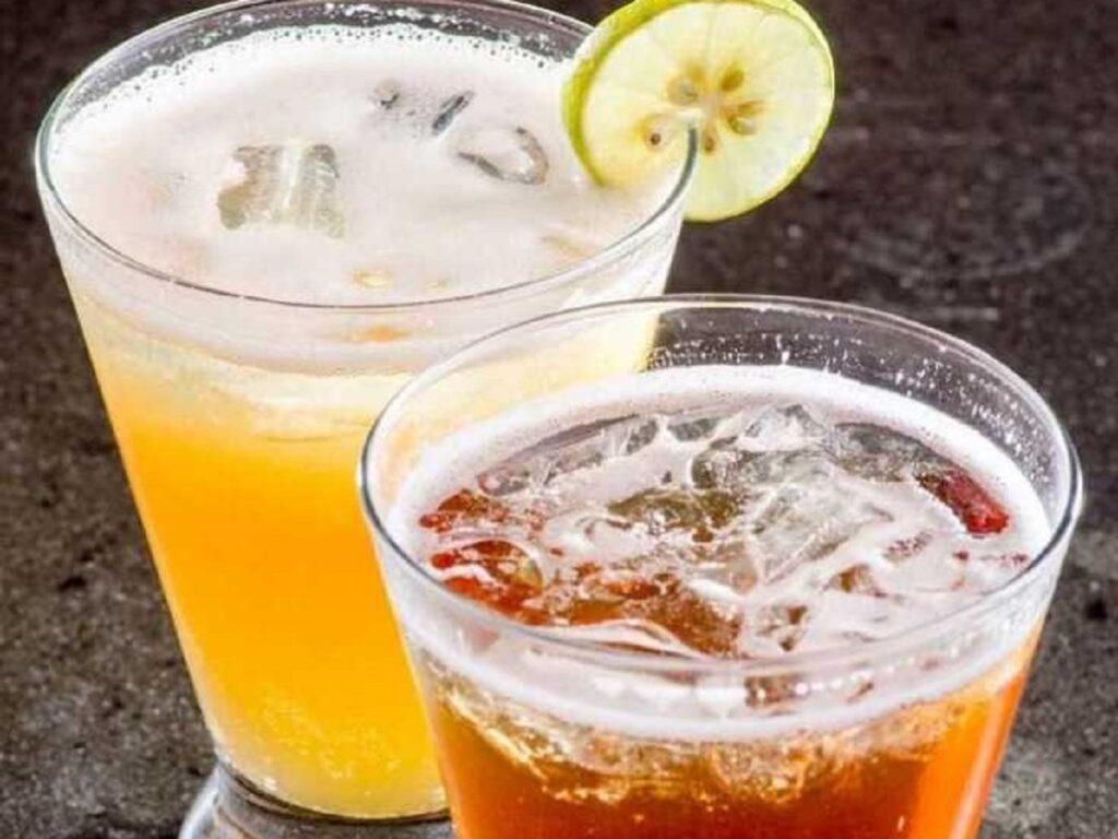 Peach Lime Tea dan Rose Lychee Tea
