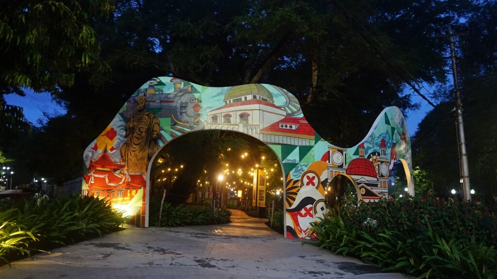 Pintu Masuk Mural Wisata Kota Semarang