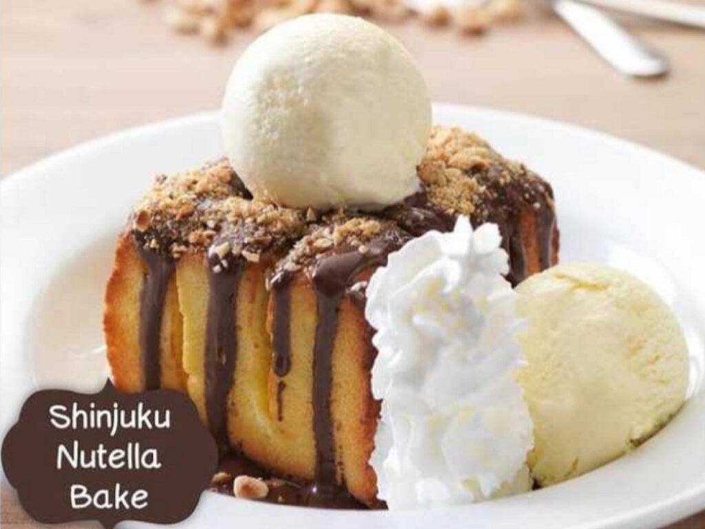 Menu dessert shinjuku Nutella Bake Secret Recipe