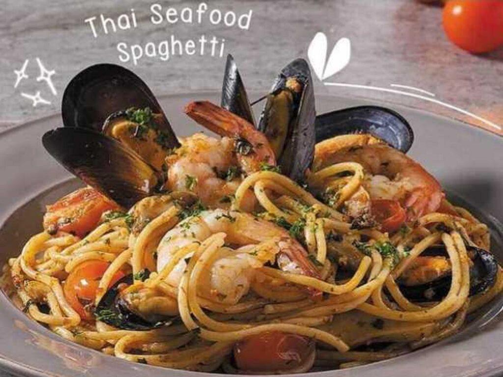 Menu makanan Thai Seafood Spaghetti Secret Recipe