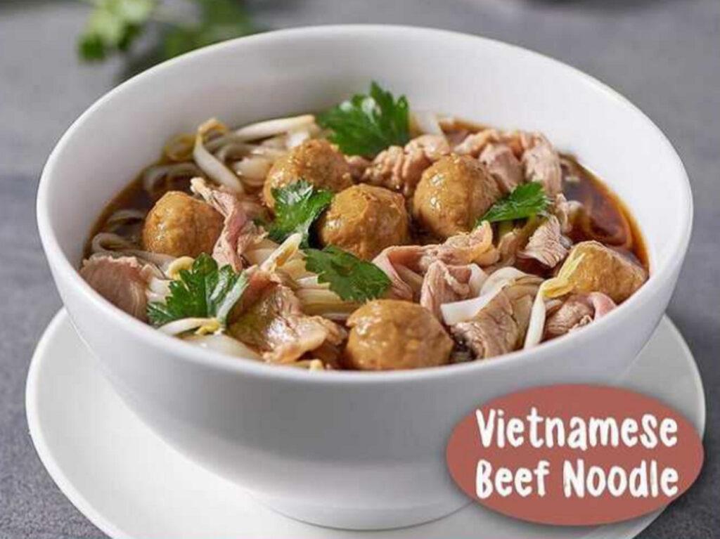 Menu asian Vietnamese Beef Noodle