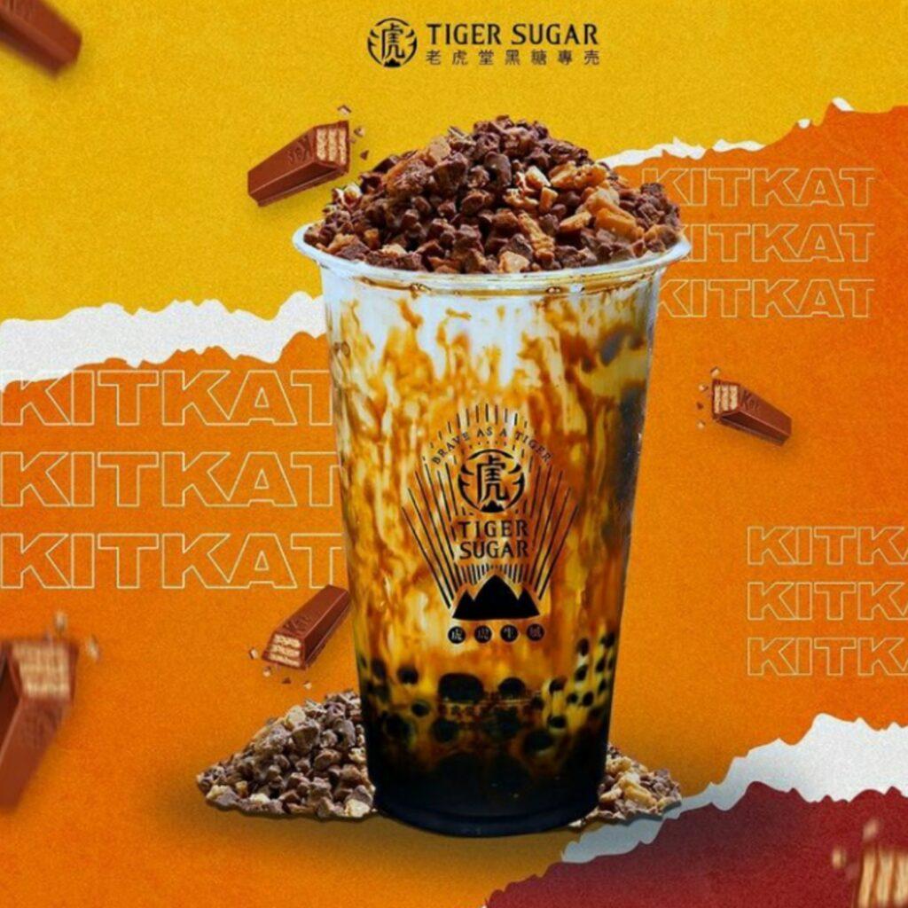 Brown Sugar Milk With Kitkat & Cream Mousse