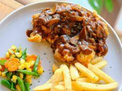 Chicken Fried Steak With Gravy & Fries Fat Bubble