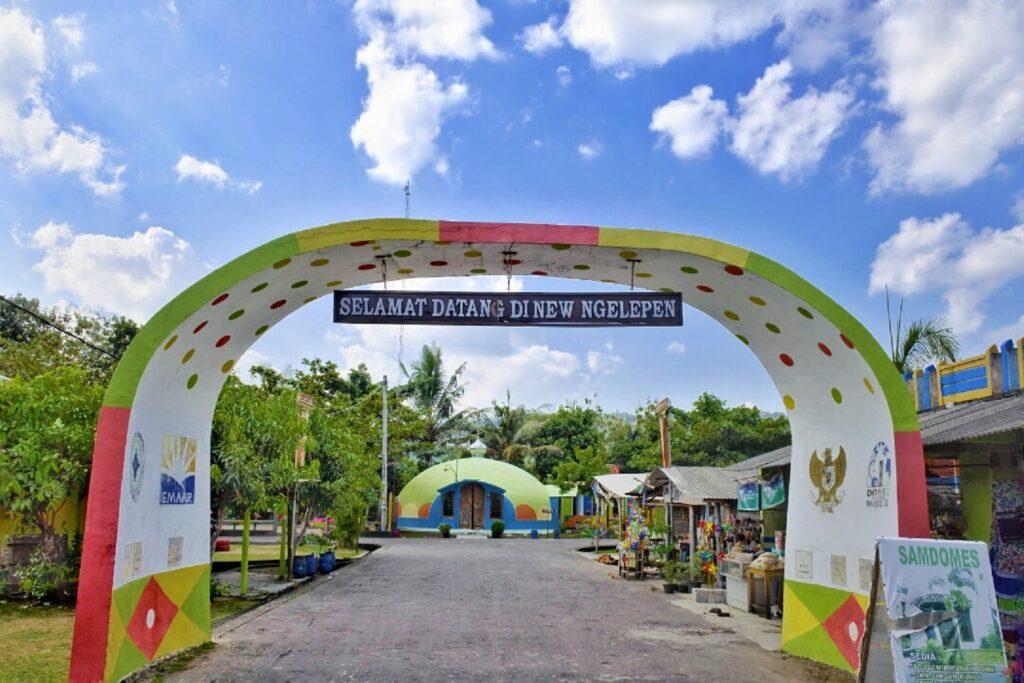 Gerbang Memasuki Dome View Teletubbies