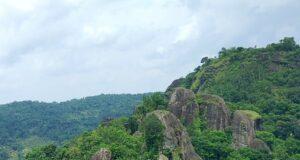 Panorama perbukitan gunung api purba Nglanggeran