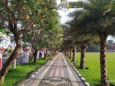 Jalur jogging alun-alun