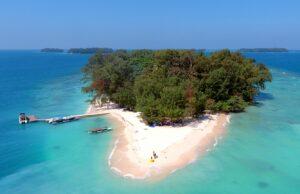 Bentang alam pulau perak dari ketinggian