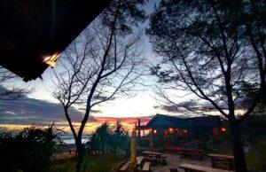 Sunset di Cafe Maha Corner Pulau Kapuk