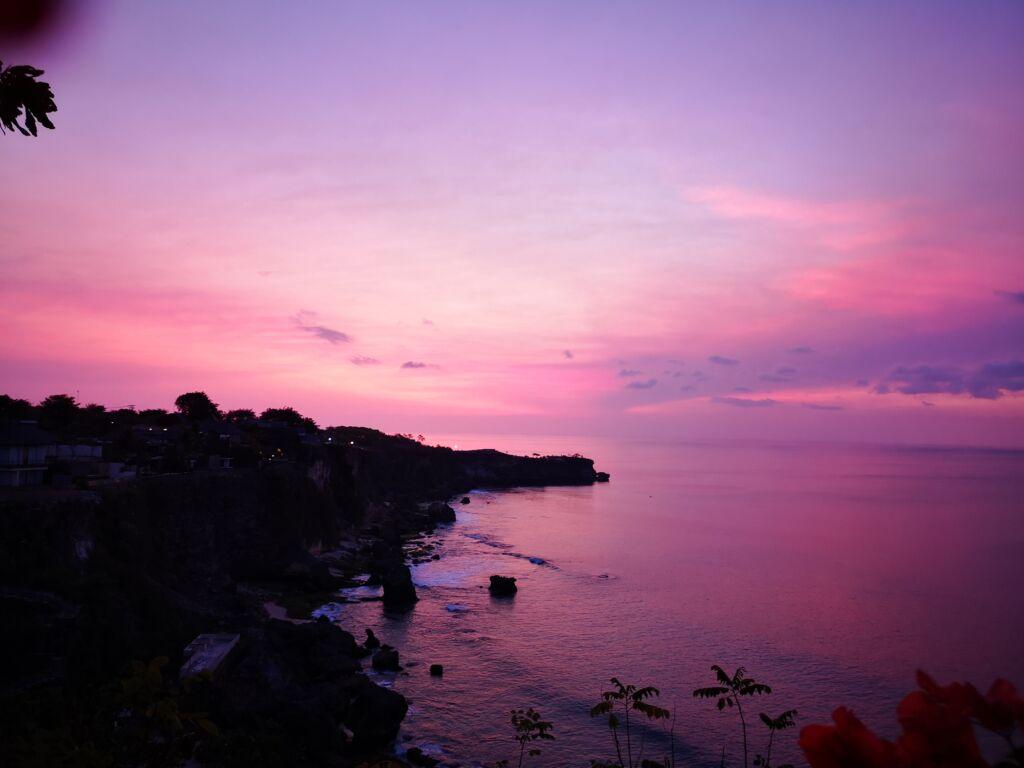 Pemandangan Sunset Di Pantai Bali