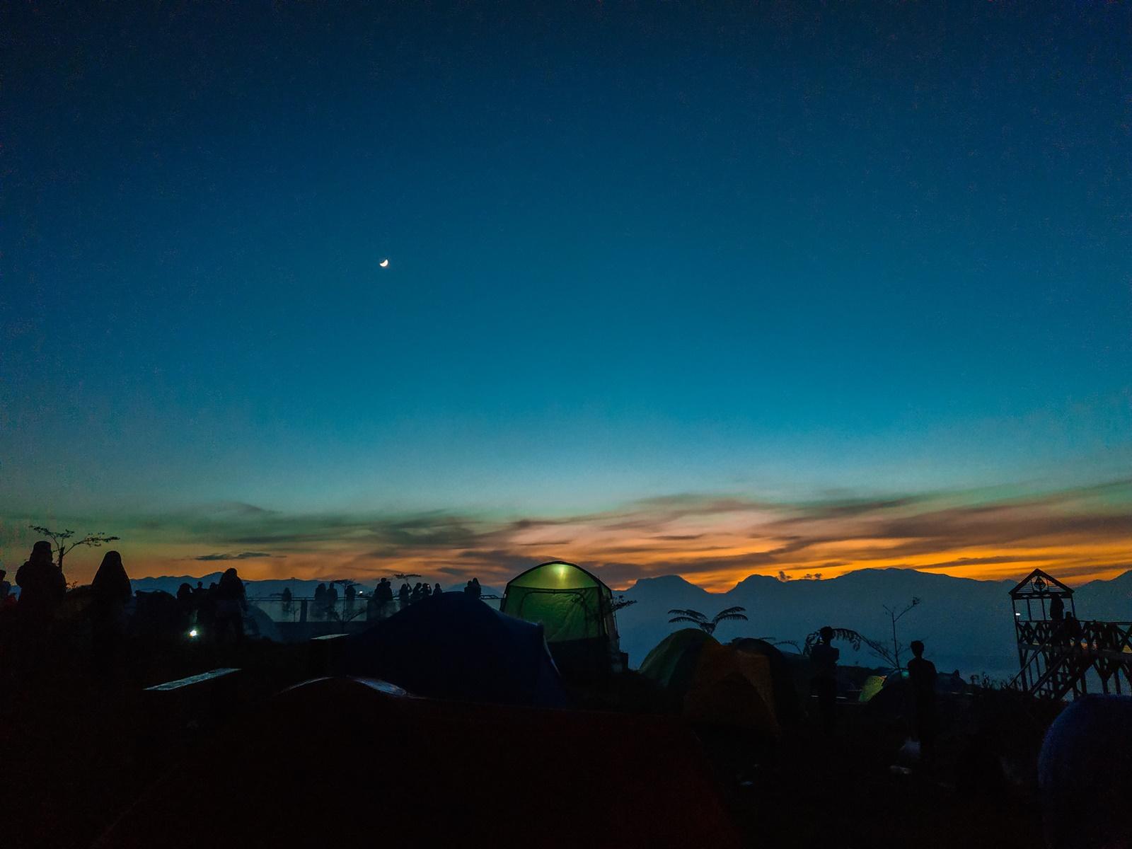 Langit malam di Taman langit Pangalengan