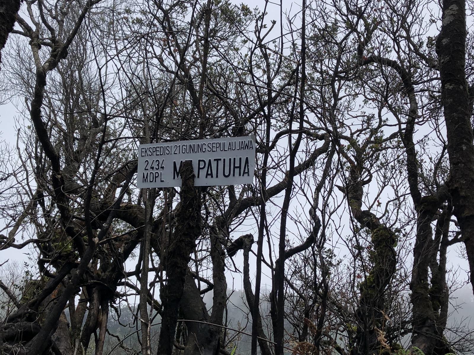 Puncak Sunan Rama di ketinggian 2.434. mdpl