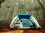 Salah satu tenda di Talaga Surian Taman Nasional Gunung Ciremai