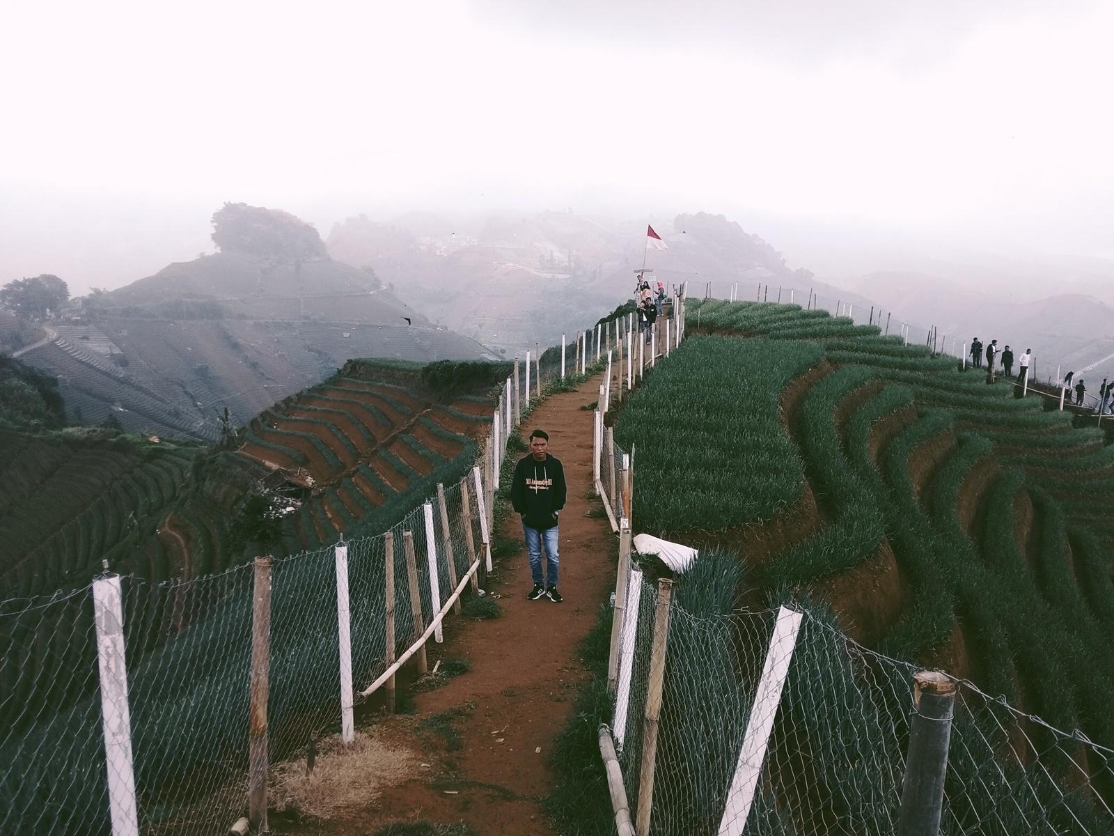 Berjalan di punggung bukit