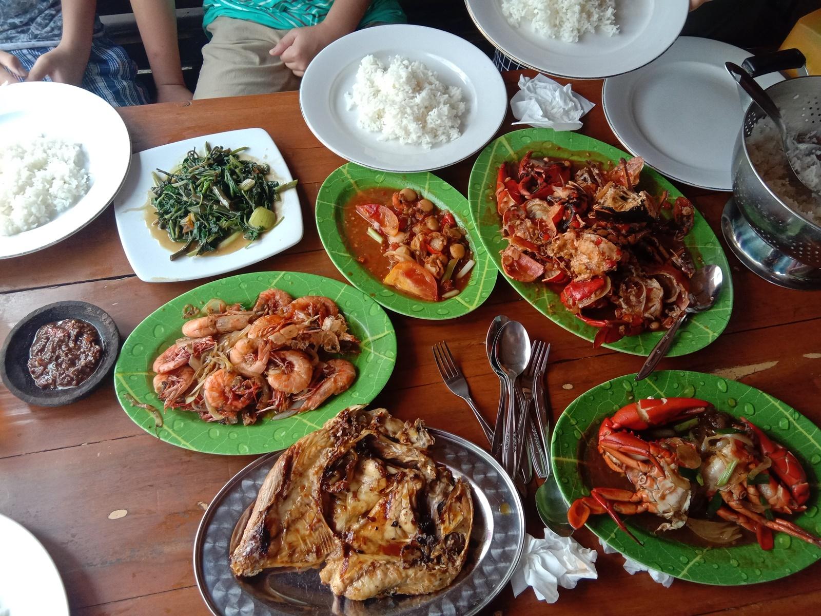 Menu seafood khas Pangandaran
